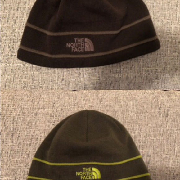 Pair of the North Face beanies brown 50a11d254b97